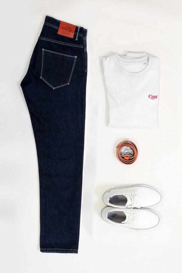 10 DLOOP 75 Raw Comfort Slim withSweatshirt Belt Boots 1 3