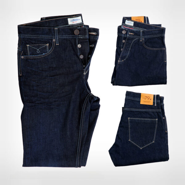 DLOOP Jeans 79x Comfort Straight Fly Back Front Details