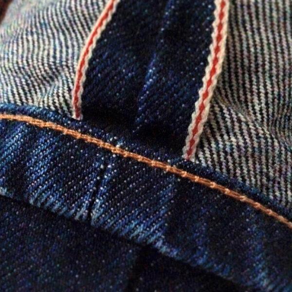 DLOOP Jeans 79x Comfort Straight Hem Chain Stitch Details 1